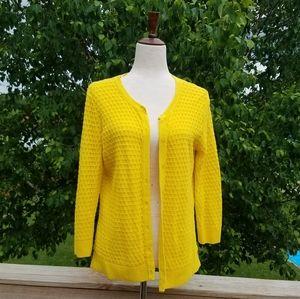 Merona Yellow Cardigan